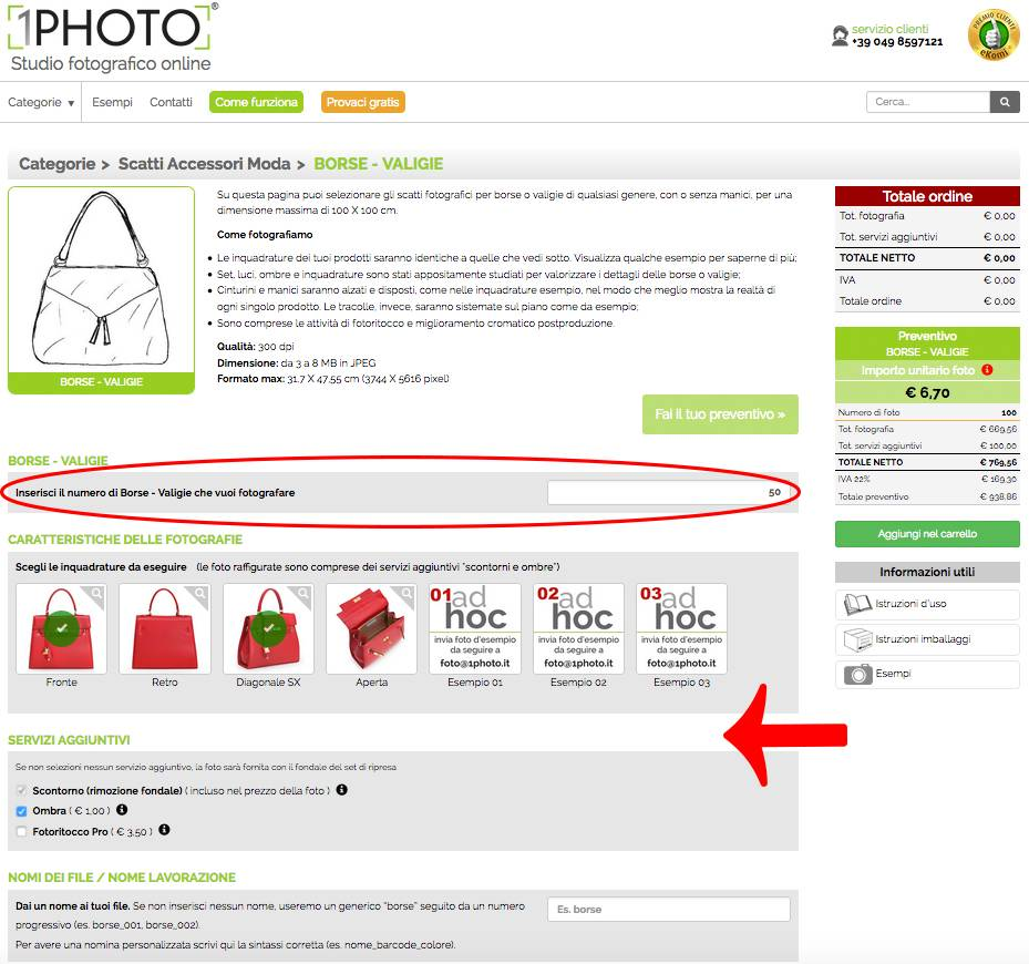 Foto per ecommerce acquista online